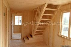 Лестница на мансарду в каркасном доме
