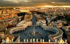 Vatican and Rome from the roof of St. Peter's basilica.