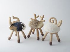 Cow, Bambi, Sheep chair | Kamina