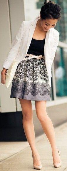 pretty printed skirt ♥✤ | Keep the Glamour | BeStayBeautiful