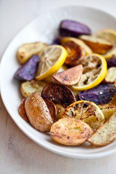 roasted potato, beetroot and lemon