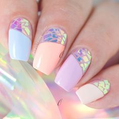 Gorgeous Nail Art Ideas for Spring Nails Design # Spring . ideen Gorgeous Nail Art Ideas for Spring Nails Design # Spring Nail Design Spring, Spring Nail Art, Spring Nails, Summer Nails, Best Nail Art Designs, Beautiful Nail Designs, Foil Nail Designs, Trendy Nails, Cute Nails