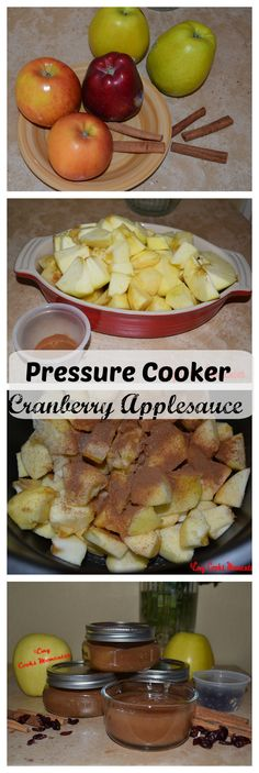 Pressure Cooker Cranberry Applesauce in the House