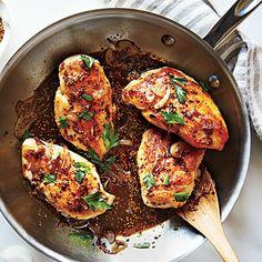 Chicken with Honey-Beer Sauce | CookingLight.com