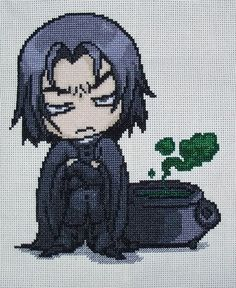 Snape cross stitch. This is so cute! I did not make this but I wanted to add it because of it's awesomeness.