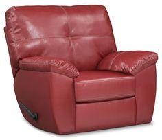 Living Room Furniture - Ricardo Glider Recliner - Cardinal