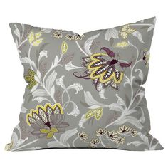Throw pillow with a floral motif.   Product: PillowConstruction Material: Woven polyesterColor: Multi