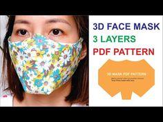Easy Face Masks, Diy Face Mask, Mascarilla Diy, Mask Template, Too Faced, 3d Face, Diy Mask, Fashion Face Mask, Mask For Kids
