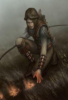 Hunter, ika metreveli on ArtStation at https://www.artstation.com/artwork/mgGxd