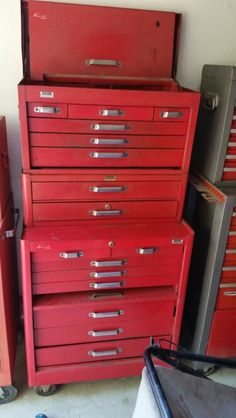 Kennedy old rollaway toolbox