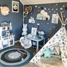 """894 Likes, 10 Comments - @lovely__decor on Instagram: """"Gorgeous kids room by @madelen88 via dear @luxury__love__ 💙#architecture #building #TagsForLikes…"""""""