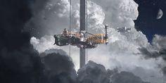 ArtStation - Titanfall 2 Space Elevator Concept, Danny Gardner