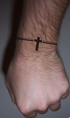 cross band wrist tattoos egodesigns