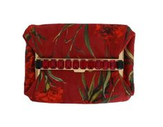 New Dolce&Gabbana Red Roses Print Crystal Purse Bag Clutch Purse, Purse Wallet, Dolce And Gabbana Purses, Purses And Bags, Women's Bags, Red Roses, Red Leather, Crystals, Cotton