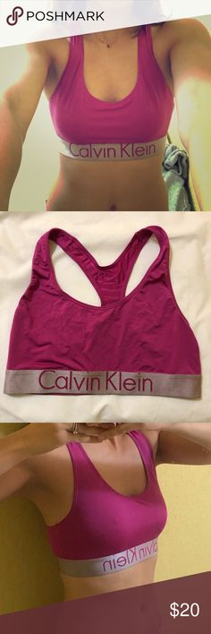 Calvin Klein hot pink sports bra. NWOT. Calvin Klein Other