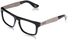 Vans Herren Sonnenbrille , M SQUARED OFF BLACK SILVER, GR. One size (Herstellergröße: One Size), Schwarz (Black Silver)