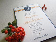 preppy monogram pocket wedding invitation styled by k. austin