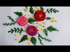Hand Embroidery: Rosette Rose Stitch - YouTube
