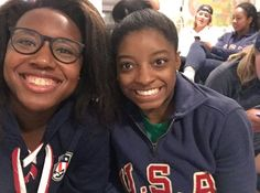 One beautiful and historic photo. August 2016. Simone Biles and Simone Manuel…