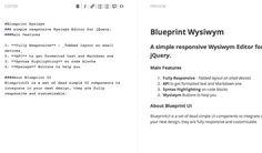 12 Useful jquery plugins wysiwyg editor ingredients
