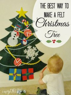 The best way to make a felt Christmas tree: tips from www.craftychelsea.com