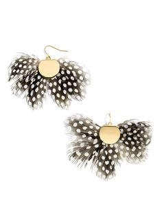 Monarch Feather Earrings