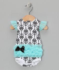 Vitamins Baby | Turquoise Damask Tutu Bodysuit @ zulily 3.14