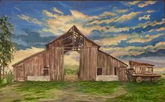 Andrade barn by Janet Alexander Flores Nova, Barn, Sky, Painting, Heaven, Converted Barn, Heavens, Painting Art, Barns