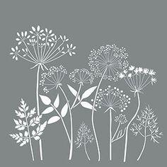 "18 ""x Americana decor stencils, wildflowers, reusable stencil -. - 18 ""x Americana Decor Stencils, Wildflowers, Reusable Stencil – Americana Decor S - Embroidery Stitches, Embroidery Patterns, Hand Embroidery, Japanese Embroidery, Stencil Patterns, Stencil Designs, Sgraffito, Chalkboard Art, Wild Flowers"