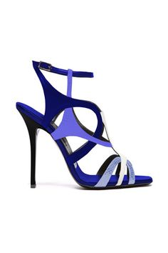Diego Dolcini Navy Blue Stiletto Sandal Spring 2014 #Shoes #High #Heels