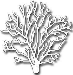 Frantic Stamper Precision Die - Large Staghorn Coral-This beautiful detailed large staghorn coral die measures x Our Frantic Stamper Prec Cross Stitch Fabric, Cross Stitch Kits, Cross Stitch Patterns, Quilt Patterns, Stencil Templates, Art Template, Stencils, Coral Art, Punch Needle Patterns