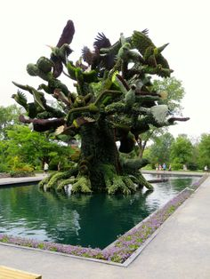 Plant Sculptures in Botanical Gardens, Montreal 2013