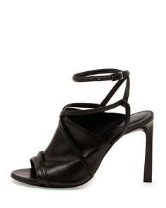 Lanvin Leather Crisscross Glove Sandal