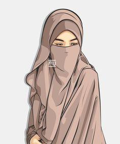 Niqab is my choices Beautiful Muslim Women, Beautiful Hijab, Hijabi Girl, Girl Hijab, Vector Character, Portrait Vector, Hijab Drawing, Niqab Fashion, Fashion Boots