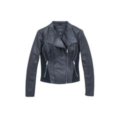 Andrew Marc Felix ($368) ❤ liked on Polyvore featuring outerwear, jackets, black, leather, double breasted jacket, 100 leather jacket, double breasted leather jacket, genuine leather jackets and lined leather jacket