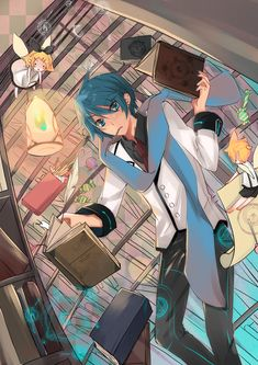 Vocaloid Kaito, Kaito Shion, Black Rock Shooter, Ao No Exorcist, Guys And Girls, Boys, Kawaii Art, Pretty Art, Wow Products