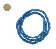 150 Teal Glass Beads Small Blue Beads Java Glass by thebeadchest