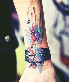 watercolor tattoo love!