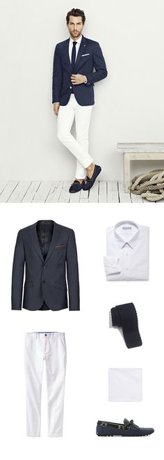 Skinny Knitted Tie in Dark Navy - ties shop - blue Fashion 101, Fashion Beauty, Mens Fashion, Beauty Style, Nautical Looks, Dark Navy, Nice Dresses, Suit Jacket, Menswear