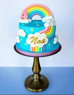 4th Birthday Cakes, Rainbow Birthday Party, Care Bear Cakes, Cake Inspiration, Wedding Cake Designs, Wedding Cakes, Savoury Cake, Celebration Cakes, Themed Cakes
