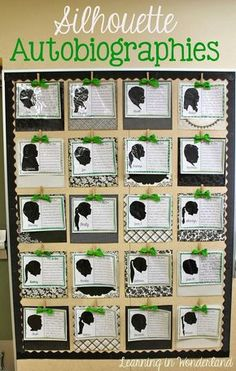 Student autobiographies..love this for the first week of school. Possibly have 2 writing samples one from beginning of year and one from the end?