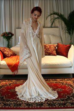 Robe Lace Bridal, Wedding Lingerie, Bridal Nightgown, Bridal Robes, Lace Nightgown, Wedding Robe, Wedding Dresses, Lace Wedding, Wedding Night