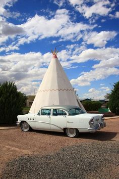 "Route 66 - Wigwam Motel. One of two remaining wigwam motels on old Rt. 66, this one located in Holbrook, Arizona. Road trip! ""The Fine Art Photography of Frank Romeo."""
