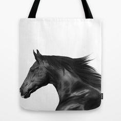 Digital Painting 3c Tote Bag by Horseaholic - $22.00