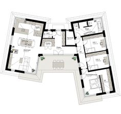 Kötz Haus - solid brick and turnkey - # Kötz # Schlü . Container Home Designs, Container House Plans, Best House Plans, Modern House Plans, Modern House Design, Home Design Floor Plans, House Floor Plans, Modern Architecture House, Architecture Plan