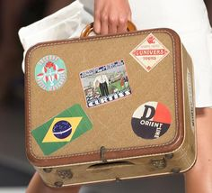 15 Unique Fashion Accessories from NYFW Spring 2015: Nicole Miller Suitcase-Bag #accessories #bags #handbags