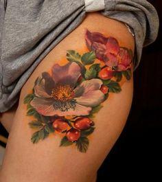 ... fash4fashion.com/upper-thigh-tattoos-for-girls/ | Tattoos | Pinterest