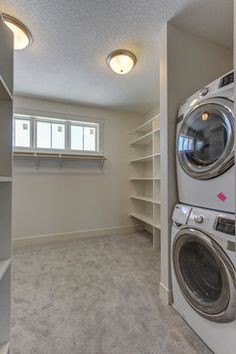 Washer And Dryer In Master Closet Design Ideas, Pictures, Remodel And Decor