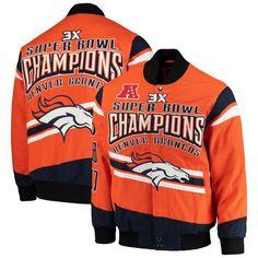 9da4f40bf70 Men s G-III Extreme Orange Denver Broncos Gladiator Commemorative Cotton  Twill Jacket. Denver Broncos Pro Shop