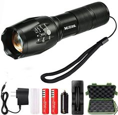 Mizoo LED Flashlight Torch Adjustable Focus Zoomable Mini Generic  Super Bright  Sturdy and Durable Aluminium Structures  Water Resistant Lighting Lamp Torch For Hiking Camping Emergency SET3 -- Find out more about the great product at the image link.
